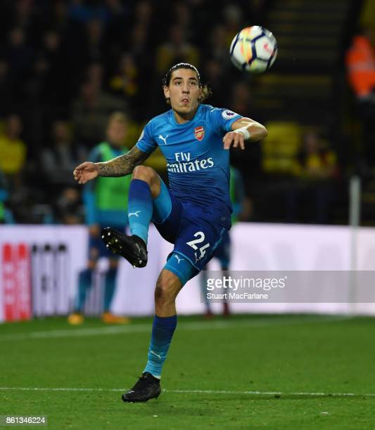 Hector Bellerin of Arsenal during the Premier League match between Watford and Arsenal at Vicarage Road on October 14 2017 in Watford England