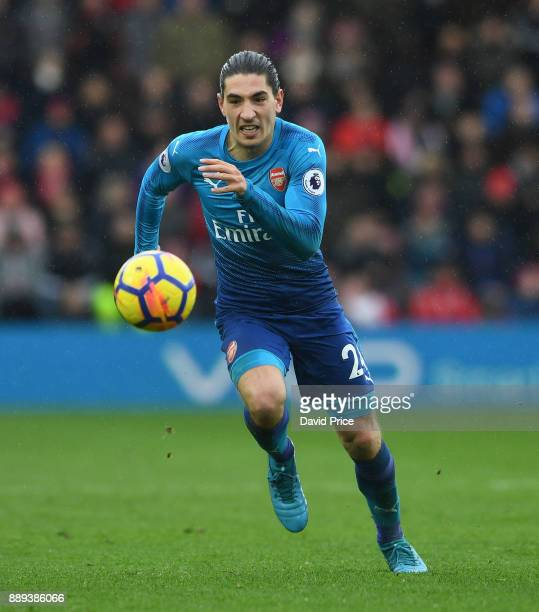 Hector Bellerin of Arsenal during the Premier League match between Southampton and Arsenal at St Mary's Stadium on December 10 2017 in Southampton...
