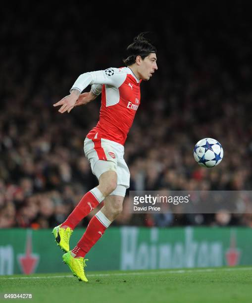 Hector Bellerin of Arsenal during the UEFA Champions League Round of 16 second leg match between Arsenal FC and FC Bayern Muenchen at Emirates...
