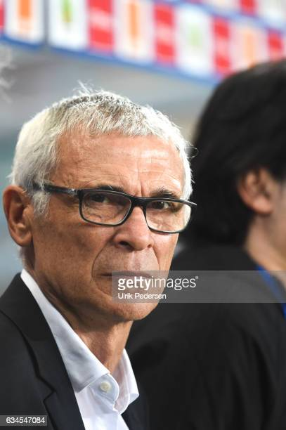 Hector Cuper head coach of Egypt during the Quarter Final African Nations Cup match between Morocco and Egypt on January 29 2017 in Port Gentil Gabon