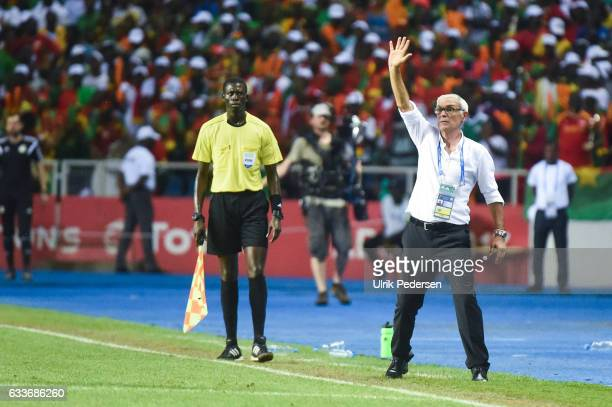 Hector Cuper of Egypt during the African Nations Cup Semi Final match between Burkina Faso and Egypt at Stade de L'Amitie on February 1 2017 in...