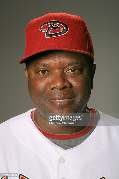 Hector De La Cruz of the Arizona Diamondbacks poses during photo day at the Diamondbacks spring training complex on February 19 2009 in Tuscon Arizona