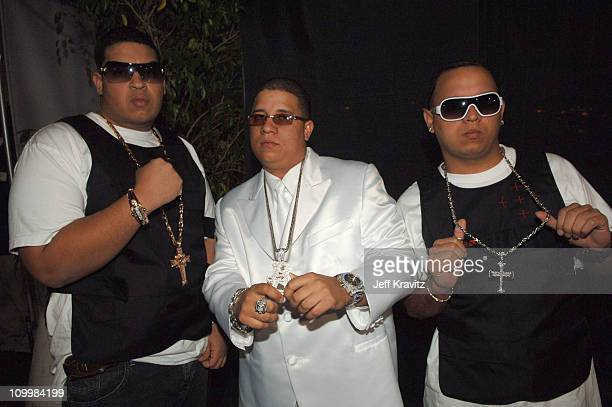 Hector El Bambino and guests during El Premio de la Gente Latin Music Fan Awards 2005 Red Carpet at The Forum in Los Angeles California United States