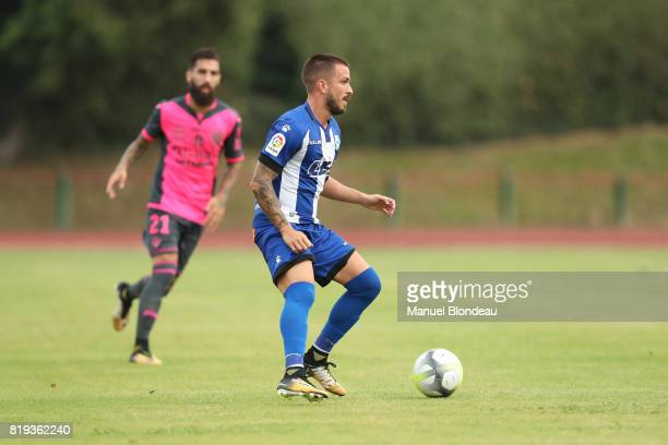 Hector Hernandez of Alaves during the friendly match between Toulouse FC and Deportivo Alaves on July 19 2017 in Saint Jean de Luz France