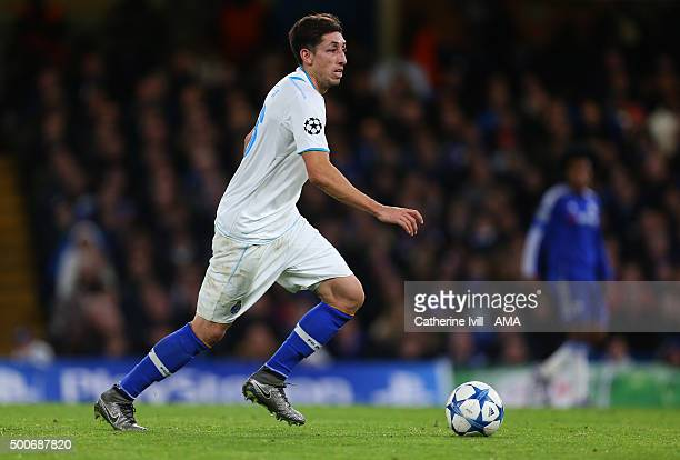 Hector Herrera of FC Porto during the UEFA Champions League match between Chelsea and FC Porto at Stamford Bridge on December 9 2015 in London United...