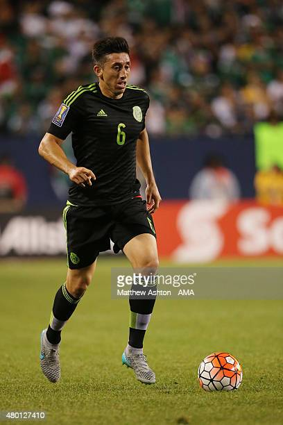 Hector Herrera of Mexico during the CONCACAF Gold Cup match between Mexico and Cuba at Soldier Field on July 9 2015 in Chicago Illinois