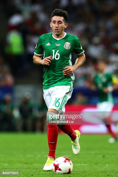 Hector Herrera of Mexico in action during the FIFA Confederations Cup Russia 2017 SemiFinal between Germany and Mexico at Fisht Olympic Stadium on...