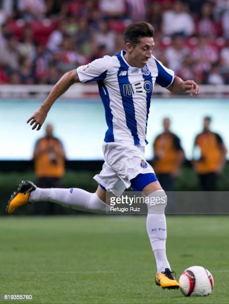 Hector Herrera of Porto drives the ball during the friendly match between Chivas and Porto at Chivas Stadium on July 19 2017 in Zapopan Mexico
