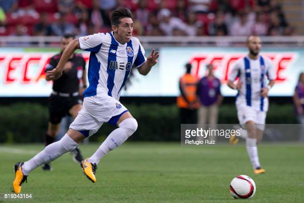 Hector Herrera of Porto runs for the ball during the friendly match between Chivas and Porto at Chivas Stadium on July 19 2017 in Zapopan Mexico