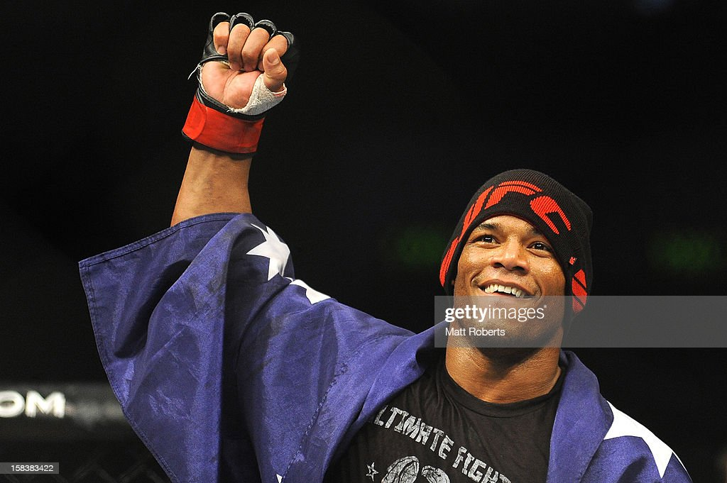 <a gi-track='captionPersonalityLinkClicked' href=/galleries/search?phrase=Hector+Lombard&family=editorial&specificpeople=9333764 ng-click='$event.stopPropagation()'>Hector Lombard</a> reacts after the Middleweight bout between <a gi-track='captionPersonalityLinkClicked' href=/galleries/search?phrase=Hector+Lombard&family=editorial&specificpeople=9333764 ng-click='$event.stopPropagation()'>Hector Lombard</a> and Rousimar Palhares at Gold Coast Convention and Exhibition Centre on December 15, 2012 on the Gold Coast, Australia.