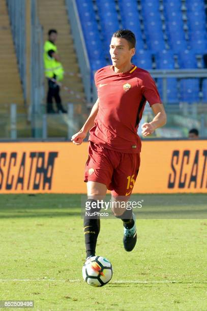 Hector Moreno during the Italian Serie A football match between AS Roma and Udinese at the Olympic Stadium in Rome on september 23 2017