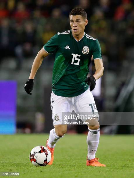Hector Moreno of Mexico during the International Friendly match between Belgium v Mexico at the Koning Boudewijnstadion on November 10 2017 in...