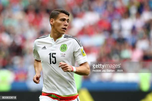 Hector Moreno of Mexico in action during the FIFA Confederations Cup Russia 2017 Group A match between Mexico and Russia at Kazan Arena on June 24...