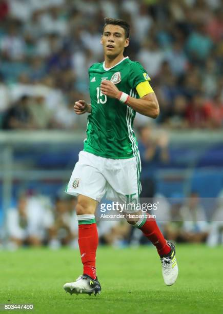 Hector Moreno of Mexico in action during the FIFA Confederations Cup Russia 2017 SemiFinal between Germany and Mexico at Fisht Olympic Stadium on...