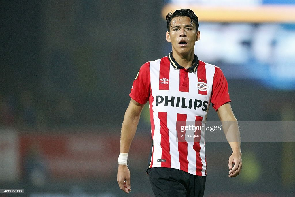 Hector Moreno of PSV during the Dutch Eredivisie match between SC Cambuur Leeuwarden and PSV Eindhoven at the Cambuur Stadium on September 21 2015 in...