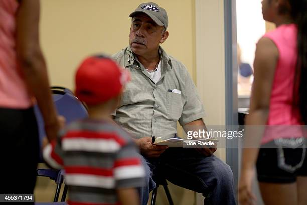 Hector Perez originally from Guatemala attends a citizenship clinic for assistance in applying for United States citizenship September 13 2014 in...
