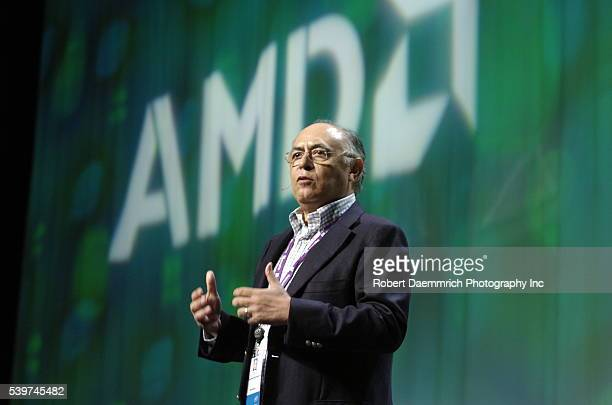 Hector Ruiz CEO of Advanced Micro Devices speaks to delegates of the 2006 World Congress of Information Technology a gathering of worldwide high tech...