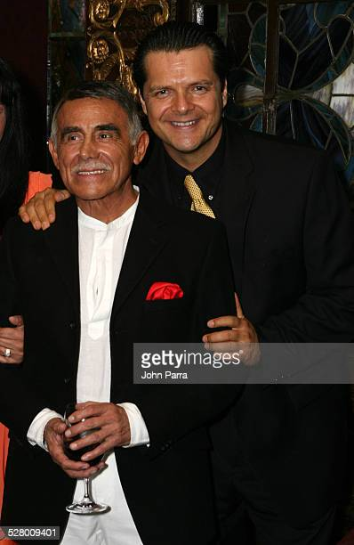 Hector Suarez and Ariel Lopez Padilla during Telemundo Celebrates New Production Tierra de Pasiones at The Forge in Miami Beach Florida United States