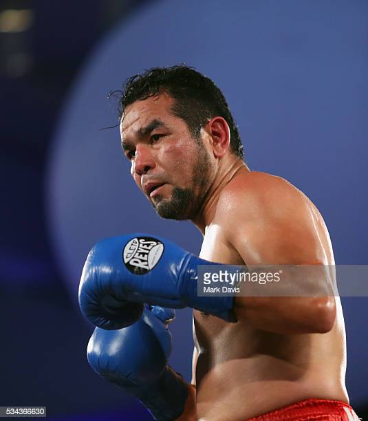 Hector Velazquez boxes at the B Riley Co and Sugar Ray Leonard Foundation's 7th Annual 'Big Fighters Big Cause' Charity Boxing Night at Dolby Theatre...