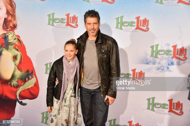 Hedda Erlebach and director Wolfgang Groos attend the premiere of 'Hexe Lilli rettet Weihnachten' at Kino in der Kulturbrauerei on November 12 2017...