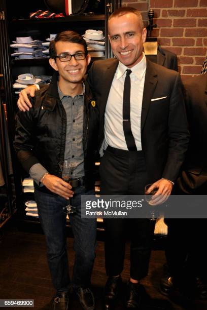 Heder Sanchez and Thom Browne attend BLACK FLEECE by BROOKS BROTHERS for FASHION'S NIGHT OUT at 351 Bleecker Street on September 10 2009 in New York