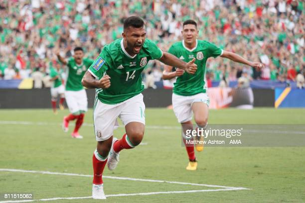 Hedgardo Marin of Mexico celebrates after scoring a goal to make it 10 during the 2017 CONCACAF Gold Cup Group C match between Mexico and El Salvador...