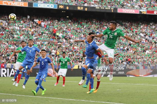 Hedgardo Marin of Mexico scores a goal to make it 10 during the 2017 CONCACAF Gold Cup Group C match between Mexico and El Salvador at Qualcomm...