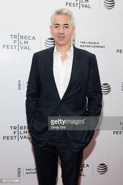 Hedge Fund Manager Bill Ackman attends the 'Betting On Zero' Premiere during the 2016 Tribeca Film Festival at Regal Battery Park Cinemas on April 14...
