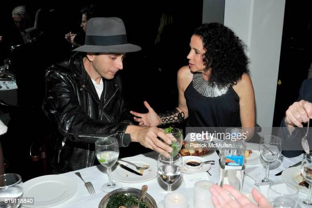 Hedi Slimane and Lisa Eisner attend LARRY GAGOSIAN hosts a Private Dinner for the ANDREAS GURSKY Opening Exhibition at GAGOSIAN GALLERY at Mr Chow on...