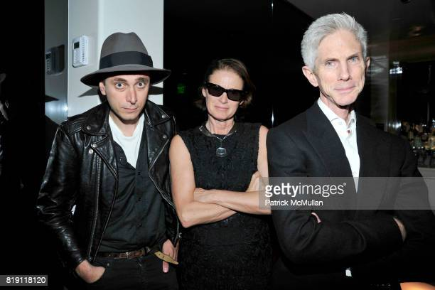 Hedi Slimane Lisa Love and Richard Buckley attend LARRY GAGOSIAN hosts a Private Dinner for the ANDREAS GURSKY Opening Exhibition at GAGOSIAN GALLERY...