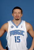 Hedo Turkoglu of the Orlando Magic poses for a portrait on NBA Media Day on September 29 2008 at the RDV Sportsplex in Maitland Florida NOTE TO USER...