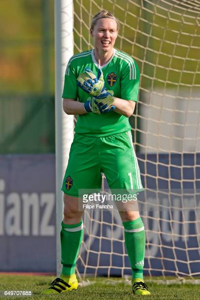 Hedvig Lindahl of Sweden during the Algarve Cup Tournament Match between Sweden W and Netherlands W on March 6 2017 in Lagos Portugal