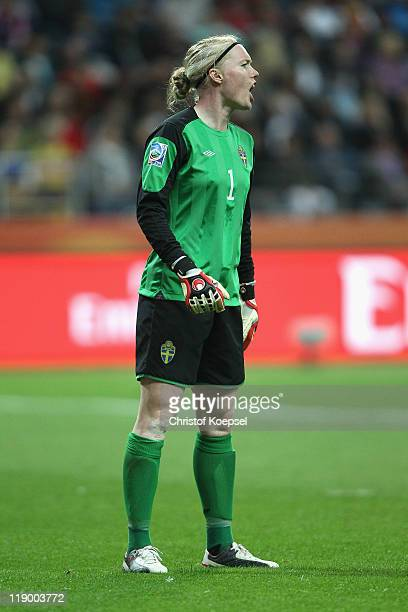 Hedvig Lindahl of Sweden looks on during the FIFA Women's World Cup Semi Final match between Japan and Sweden at the FIFA World Cup stadium Frankfurt...