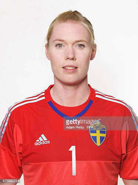 Hedvig Lindahl of Sweden poses for a portrait during the team portrait session at the Hilton Hotel on June 4 2015 in Winnipeg Canada