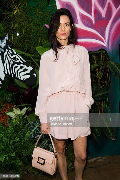 Hedvig Opshaug arrives at Roger Vivier Summer Party at Loulou's on May 22 2014 in London England