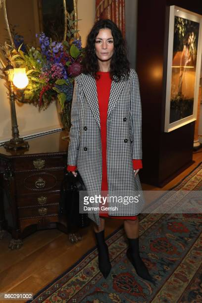 Hedvig Opshaug attends Giampiero Bodino's 'Beauty Is My Favourite Colour' cocktails and dinner evening at Spencer House on October 11 2017 in London...
