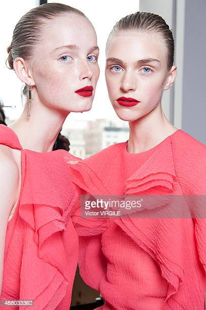 Hedvig Palm backstage at the Jason Wu fashion show during the Spring Summer 2016 New York Fashion Week on September 11 2015 in New York City