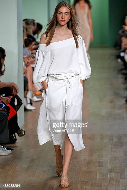 Hedvig Palm walks the runway at the Tibi fashion show during Spring Summer 2016 New York Fashion Week on September 12 2015 in New York City