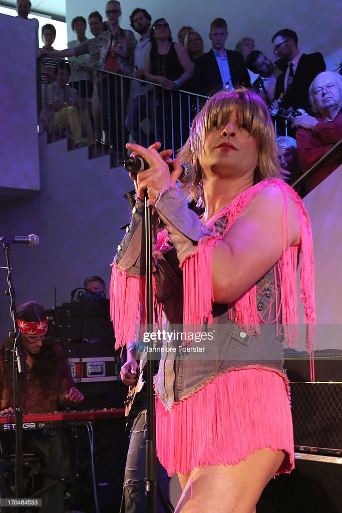 Hedwig alias Nigel Francis and the Angry Inch, during the opening of the ' Glam, the Performance of Style' Exhibition at Schirn Kunsthalle on June 13, 2013 in Frankfurt am Main, Germany.