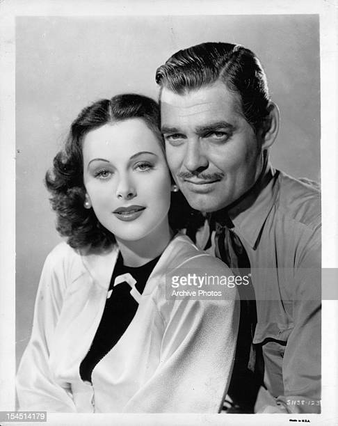 Hedy Lamarr and Clark Gable in a promotional portrait for the film 'Boom Town' 1940