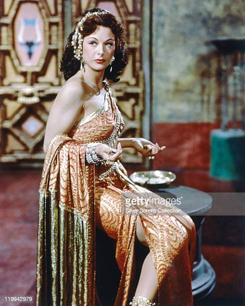 Hedy Lamarr Austrian actress in costume in a publicity portrait issued for the film 'Samson and Delilah' 1949 The biblical epic directed by Cecil B...