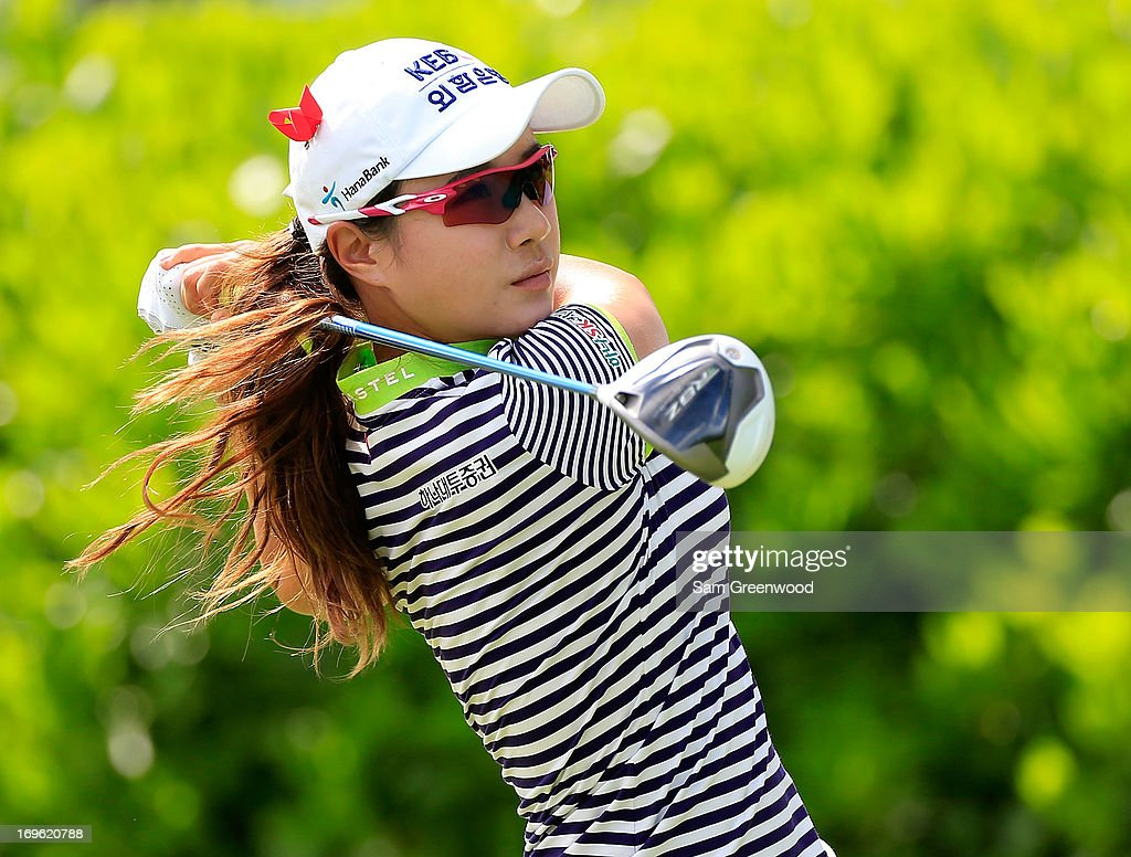 Hee Young Park of South Korea plays a shot during the final round of the Pure Silk-Bahamas LPGA Classic at the Ocean Club course on May 26, 2013 in Paradise Island, Bahamas.