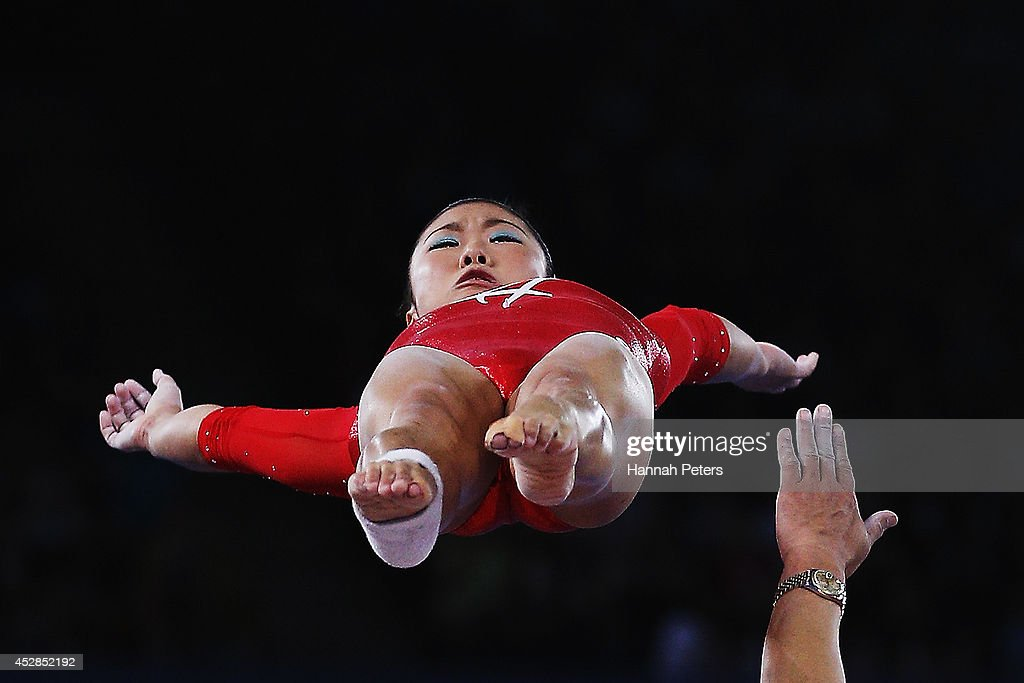Heem Wei Lim of Singapore warms up during the Women's Team Final & Individual Qualification at SECC Precinct during day five of the Glasgow 2014 Commonwealth Games on July 28, 2014 in Glasgow, United Kingdom.