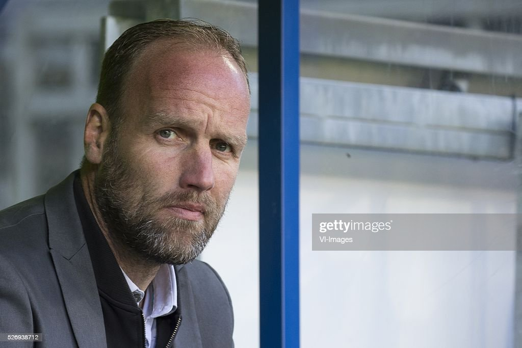 , Heerenveen, assistent-trainer Dick Lukkien of FC Groningen, during the Dutch Eredivisie match between sc Heerenveen and FC Groningen at Abe Lenstra Stadium on May 01, 2016 in Heerenveen, The Netherlands