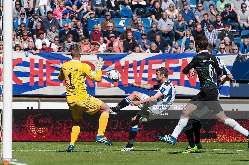 Heerenveen - Fc Groningen. during the Dutch Eredivisie match between sc Heerenveen and FC Groningen at Abe Lenstra Stadium on May 01, 2016 in Heerenveen, The Netherlands