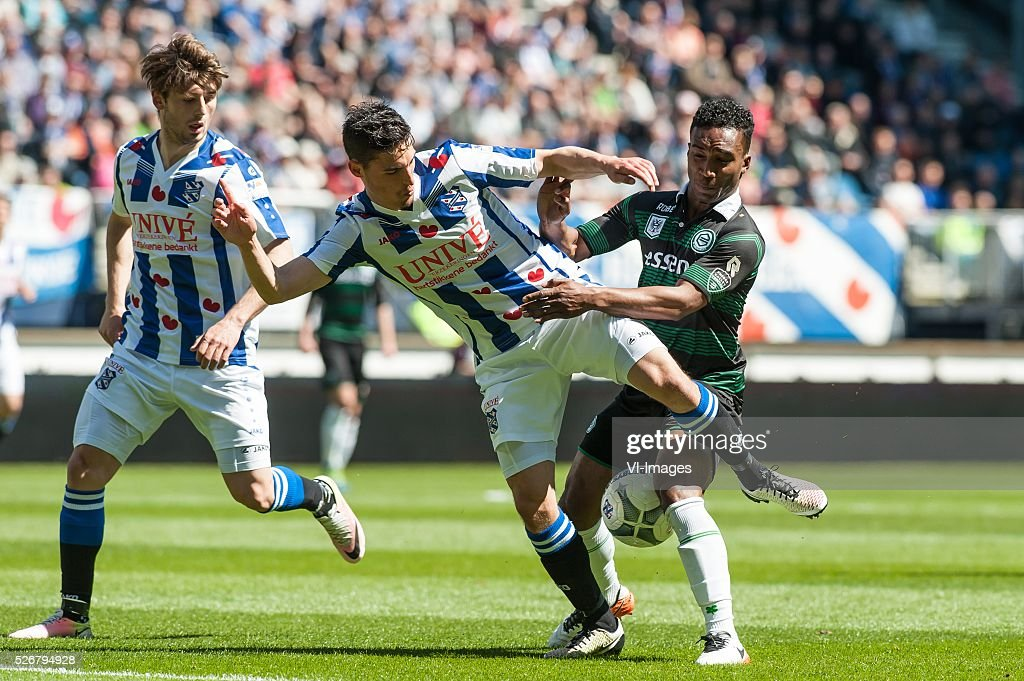 Heerenveen - Fc Groningen. Lorenzo Burnet of FC Groningen, during the Dutch Eredivisie match between sc Heerenveen and FC Groningen at Abe Lenstra Stadium on May 01, 2016 in Heerenveen, The Netherlands