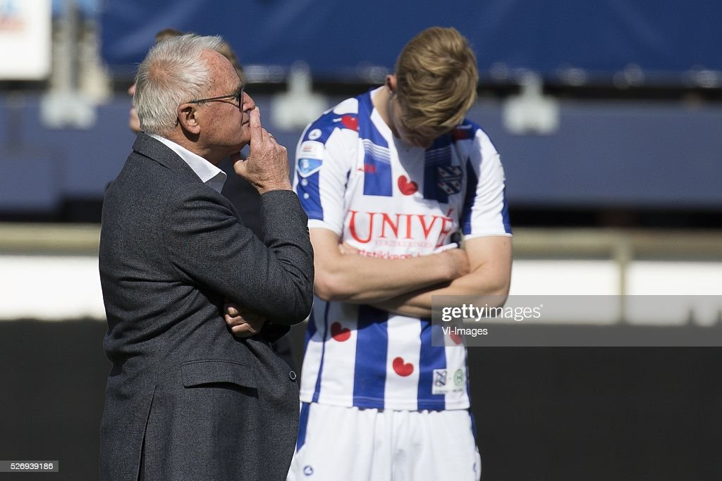 , Heerenveen, Foppe de Haan during the Dutch Eredivisie match between sc Heerenveen and FC Groningen at Abe Lenstra Stadium on May 01, 2016 in Heerenveen, The Netherlands