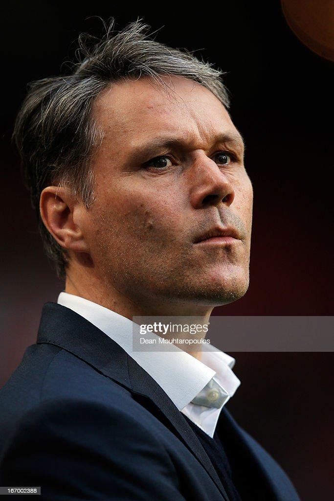 Heerenveen Manager / Coach, Marco van Basten looks on during the Eredivisie match between Ajax Amsterdam and SC Heerenveen at Amsterdam Arena on April 19, 2013 in Amsterdam, Netherlands.
