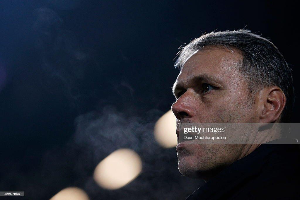 Heerenveen Manager / Head Coach Marco van Basten looks on prior to the Eredivisie match between PEC Zwolle and SC Heerenveen held at IJsseldelta...