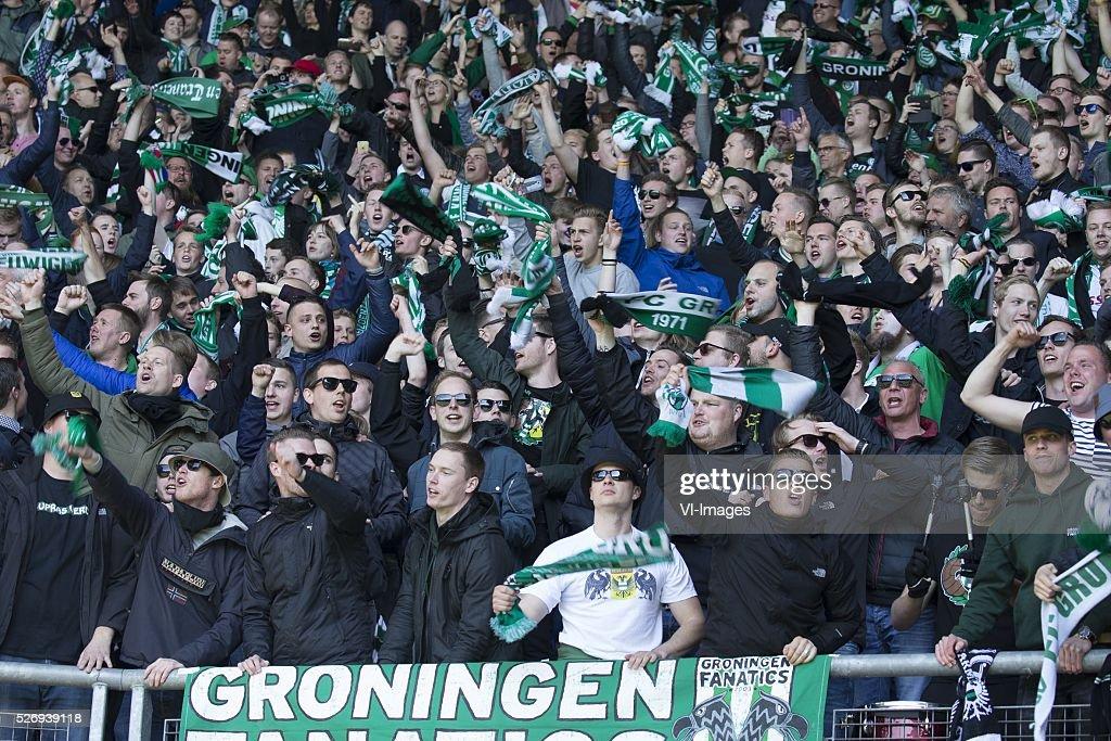 , Heerenveen, supporters during the Dutch Eredivisie match between sc Heerenveen and FC Groningen at Abe Lenstra Stadium on May 01, 2016 in Heerenveen, The Netherlands